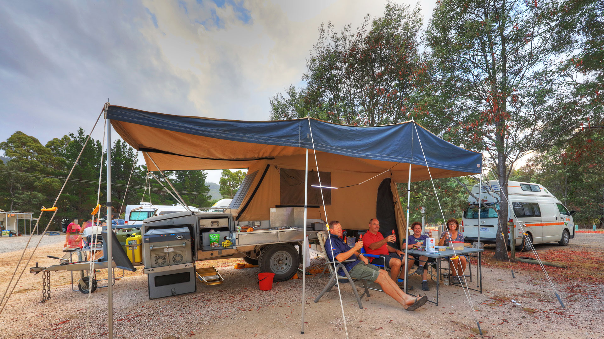 Powered Caravan Sites and Camping - Gowrie Park Wilderness Village